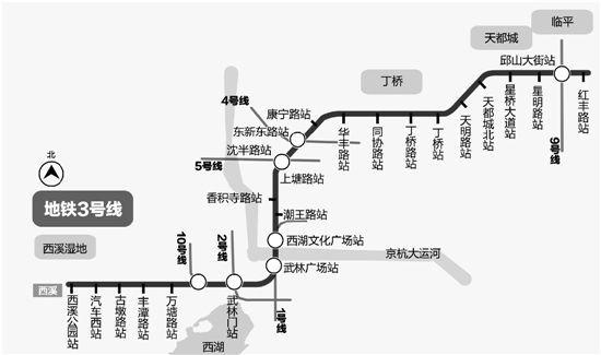 地铁3号线一期 古墩路站、古荡新村站主体本周末开工