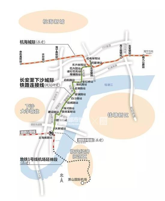 好消息!海宁和下沙要通地铁了,目前已进入研究规划阶段
