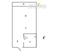 中栋国际出租房-户型图