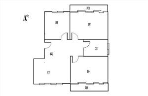 逸居城二手房-户型图