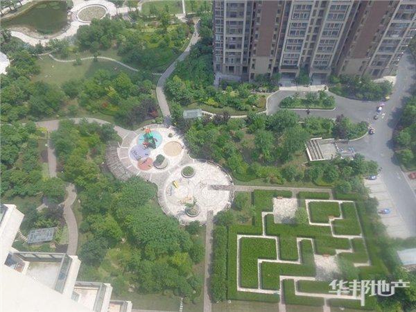 中心花园俯瞰景观
